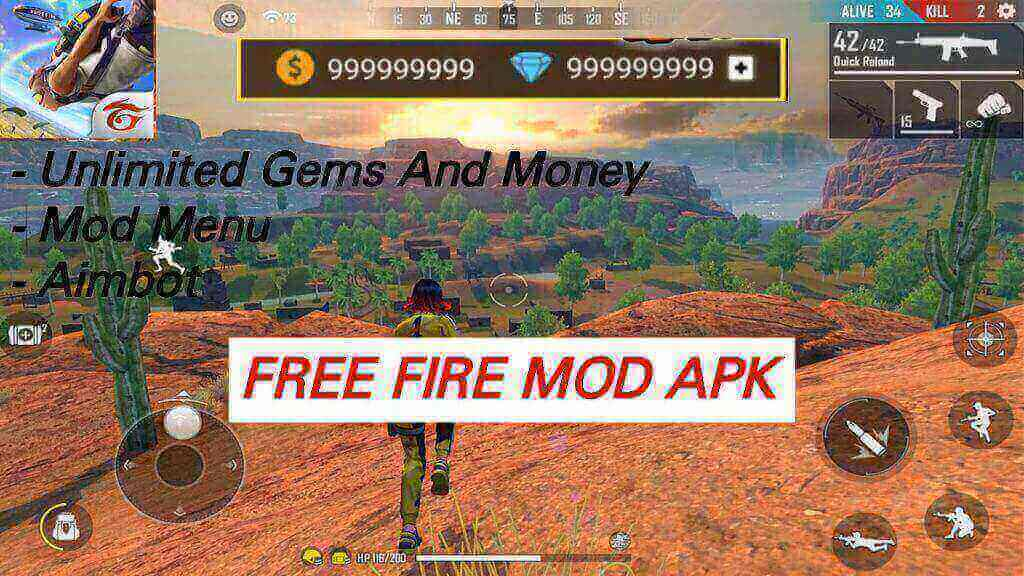 Free Fire Mod APK 1.51.7 Latest Version.