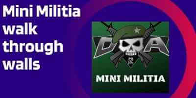 Mini Militia walk through walls