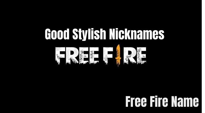 Free Fire Names 2021
